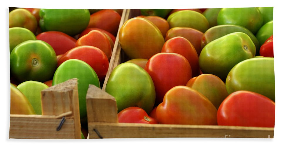 Agriculture Beach Towel featuring the photograph Tomatoes by Carlos Caetano