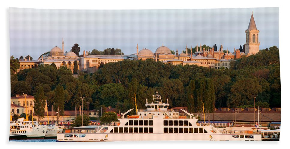 Istanbul Beach Towel featuring the photograph Topkapi Palace In Istanbul by Artur Bogacki