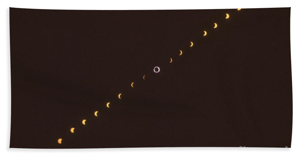Astronomical Beach Towel featuring the photograph Total Solar Eclipse Sequence by Science Source