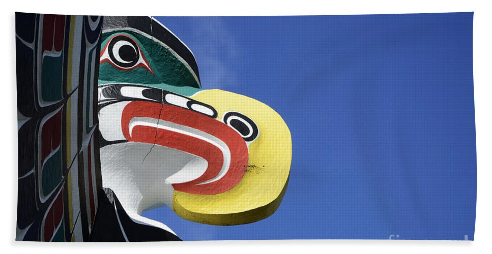 Totem Pole Beach Towel featuring the photograph Totem Pole 10 by Bob Christopher