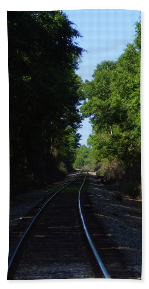 Railroad Beach Towel featuring the photograph Tracks by Paul Wilford