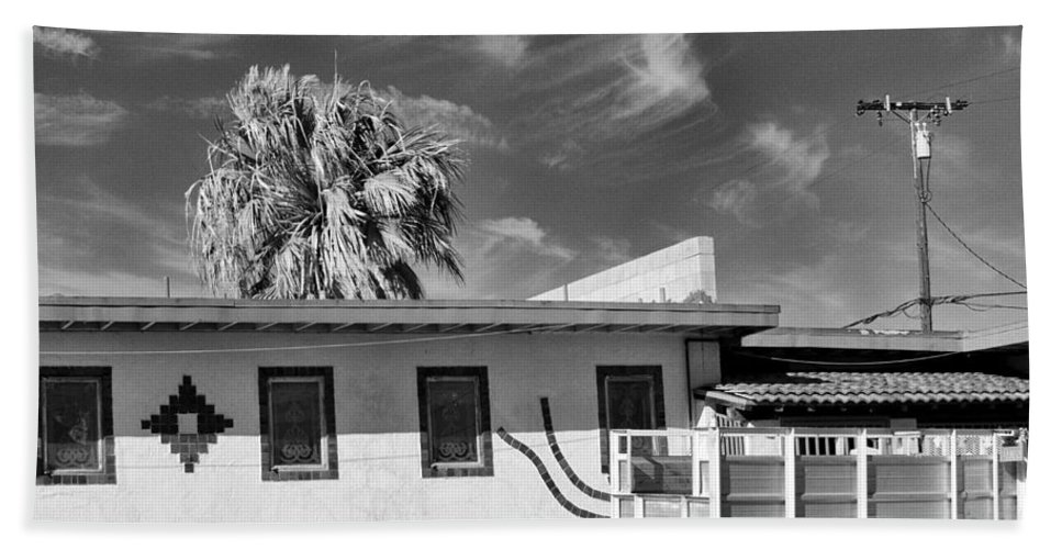 Dhs Beach Towel featuring the photograph Trailer Town Bw by William Dey