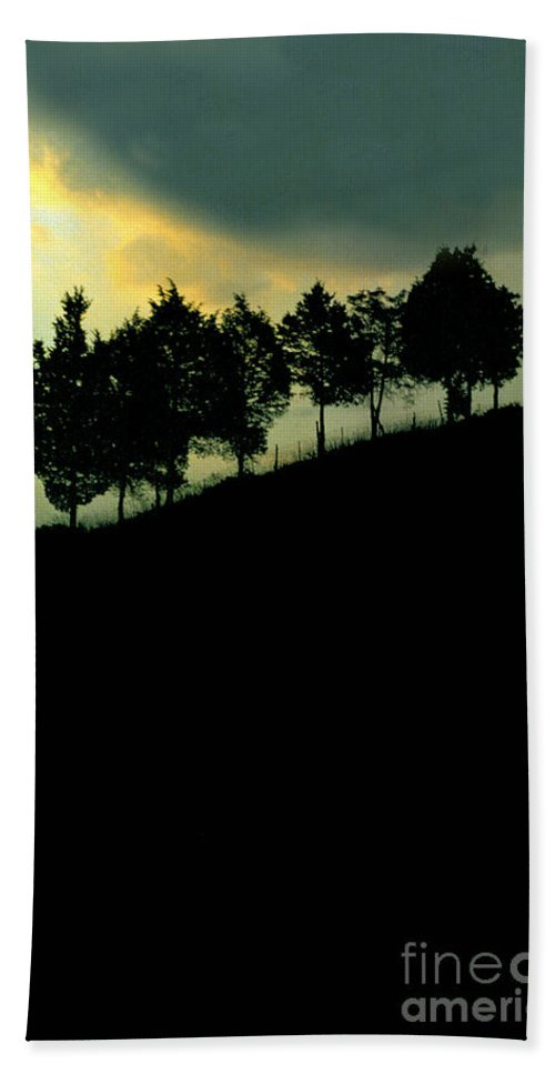 Trees Beach Towel featuring the photograph Trees On Ridge by Mike Nellums