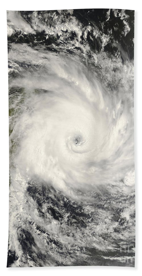 Approaching Beach Towel featuring the photograph Tropical Cyclone Ivan Over Madagascar by Stocktrek Images
