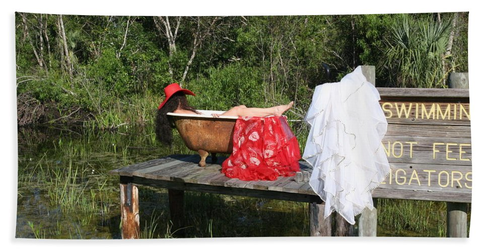 Everglades City Fl.professional Photographer Lucky Cole Beach Towel featuring the photograph Tubs 013 by Lucky Cole