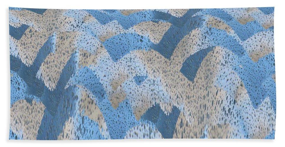 Turbulence Beach Towel featuring the digital art Turbulence by Tim Allen