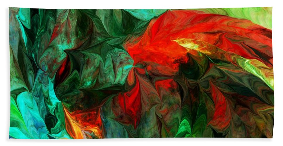Fine Art Beach Towel featuring the digital art Turmoil And Frustration by David Lane