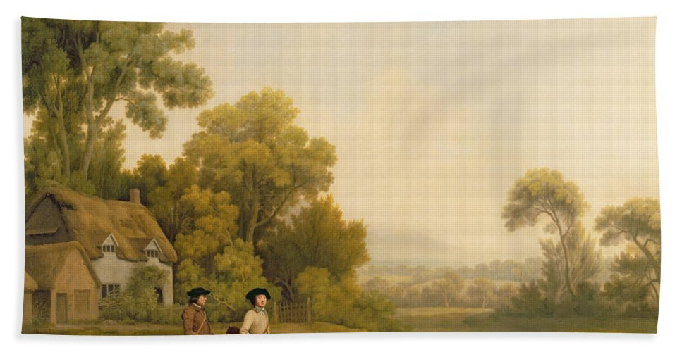 Two Beach Towel featuring the painting Two Gentlemen Going A Shooting by George Stubbs
