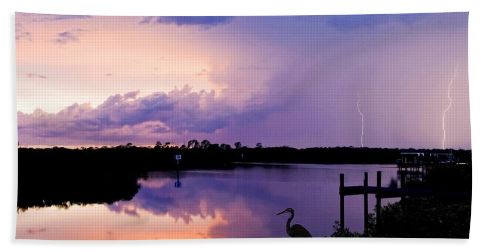 Landscape Beach Towel featuring the photograph Two Strikes by Mal Bray