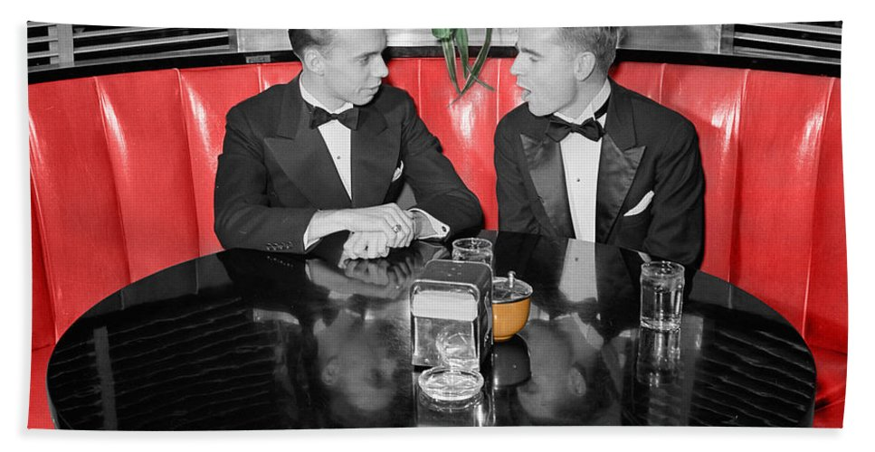 Fifties Beach Towel featuring the photograph Two Tuxedos by Andrew Fare