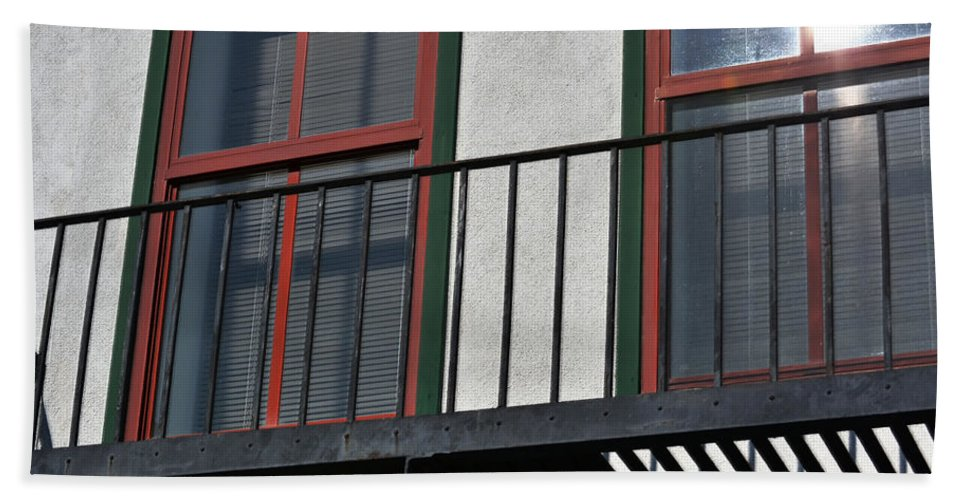 Paintography Beach Towel featuring the photograph Two Windows by Bill Owen