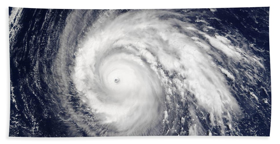 Cloud Beach Towel featuring the photograph Typhoon Higos by Stocktrek Images
