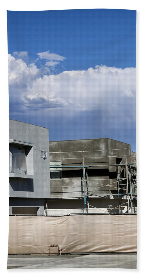 Morrison Beach Towel featuring the photograph Under Construction Palm Springs by William Dey