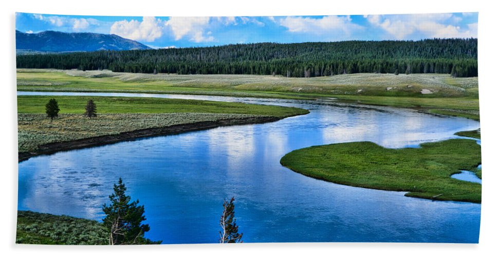 Up A Lazy River Beach Towel featuring the photograph Up A Lazy River by Jon Berghoff