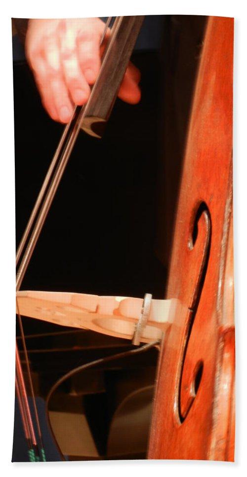 Bass Beach Towel featuring the photograph Upright Bass 1 by Anita Burgermeister