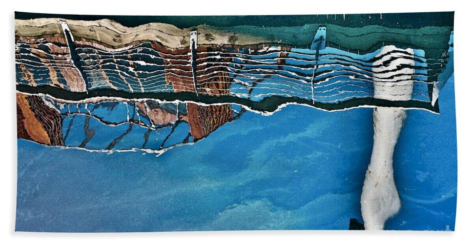 Heiko Beach Towel featuring the photograph Upside-down World Series 5 by Heiko Koehrer-Wagner