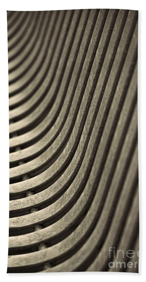 Abstract Beach Towel featuring the photograph Upward Curve. by Clare Bambers