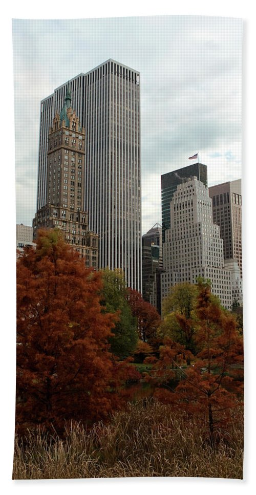 New York City Beach Towel featuring the photograph Urban Sprouting From Rural by Lorraine Devon Wilke