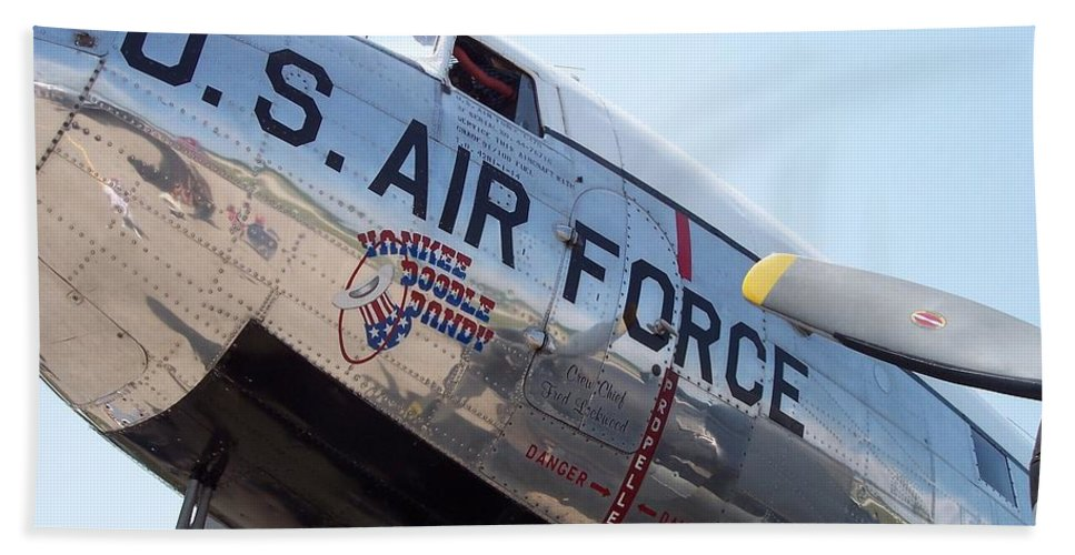 Heavy Bombers Beach Towel featuring the photograph Usaf Douglas Dc-3 Transport Aircraft by Thomas Woolworth