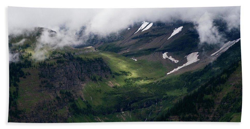 Glacier National Park Beach Towel featuring the photograph Valley Sun Spot by Lorraine Devon Wilke