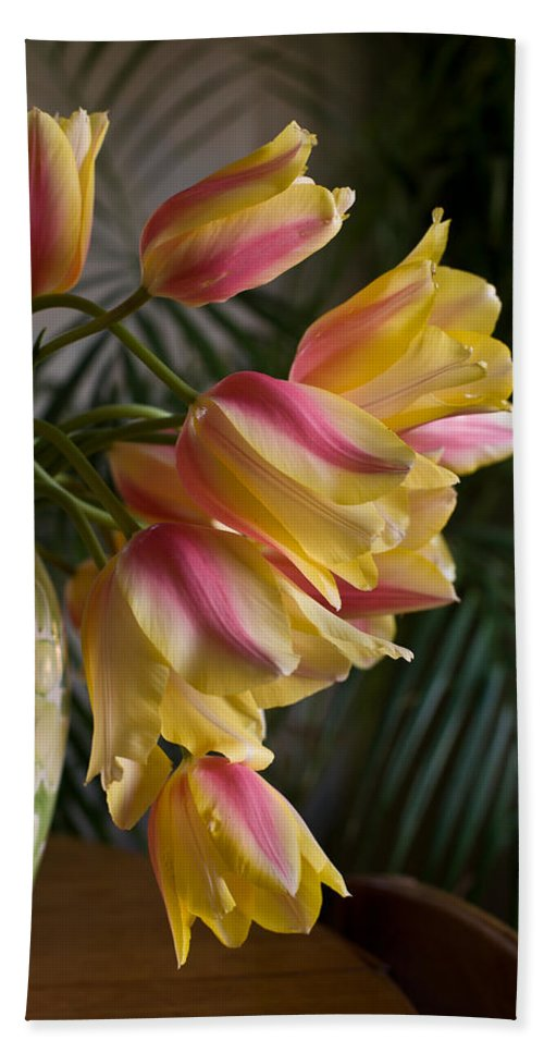 Tulip Beach Towel featuring the photograph Vase Beauty by Mike Reid