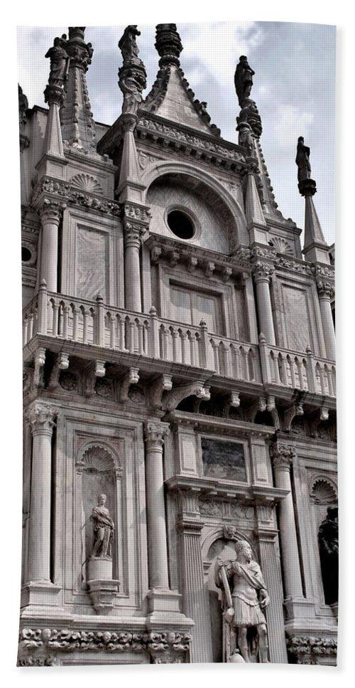 Venice Beach Towel featuring the photograph Venetian Architecture Iv by Ellen Heaverlo