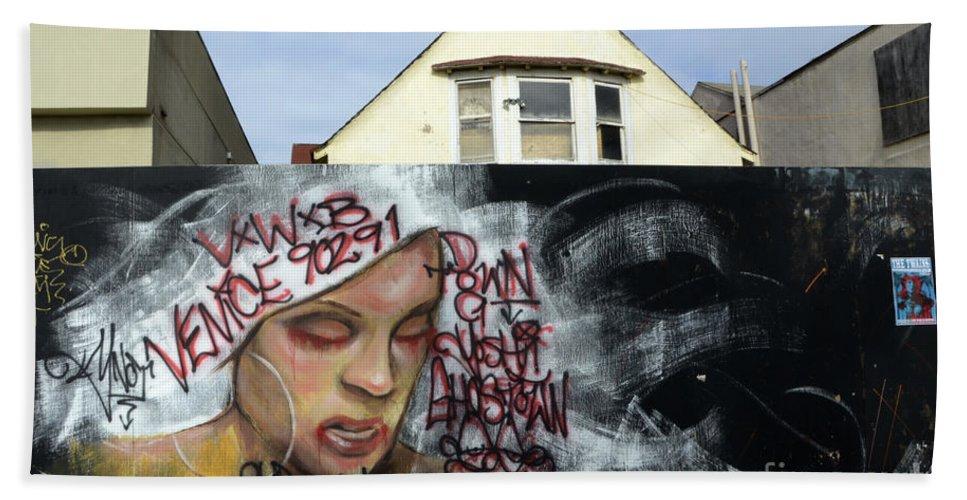 Wall Art Beach Towel featuring the photograph Venice Beach Wall Art 5 by Bob Christopher