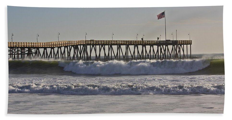 Ocean Beach Towel featuring the photograph Ventura Pier by Diana Hatcher