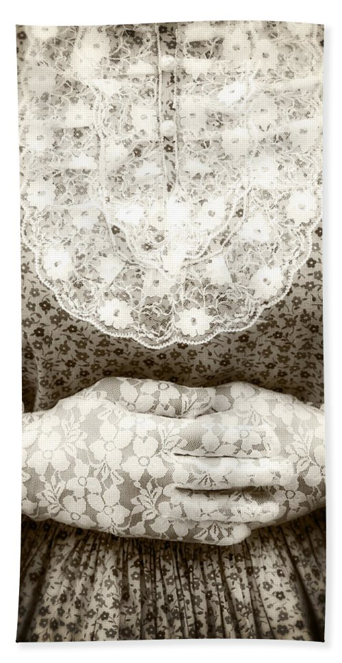 Female Beach Towel featuring the photograph Victorian Hands by Joana Kruse