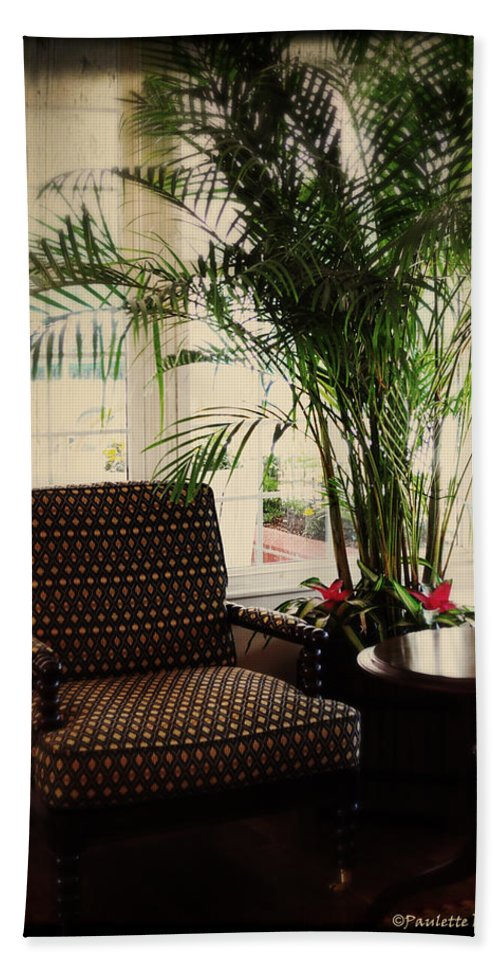 Art Beach Towel featuring the photograph Victorian Reading Corner by Paulette B Wright