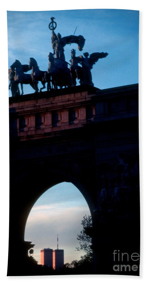 Gap Beach Towel featuring the photograph View From Brooklyns Grand Army Plaza by Mark Gilman