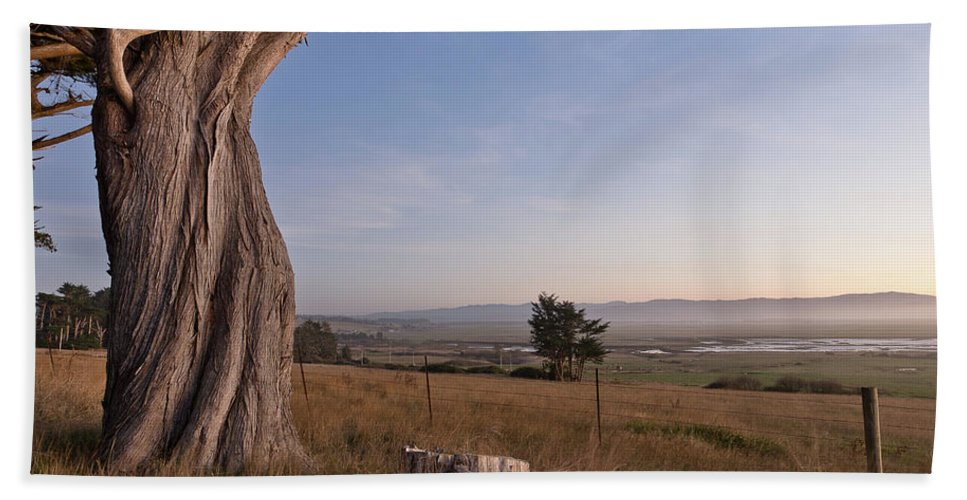 Eel River Valley Beach Towel featuring the photograph View From Table Bluff by Greg Nyquist