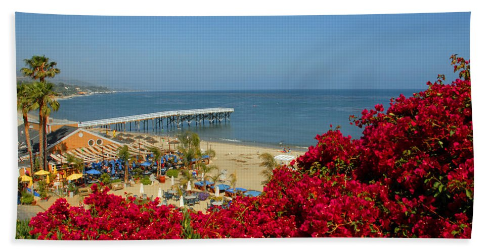 Paradise Cove Beach Towel featuring the photograph View Over Paradise by Lynn Bauer