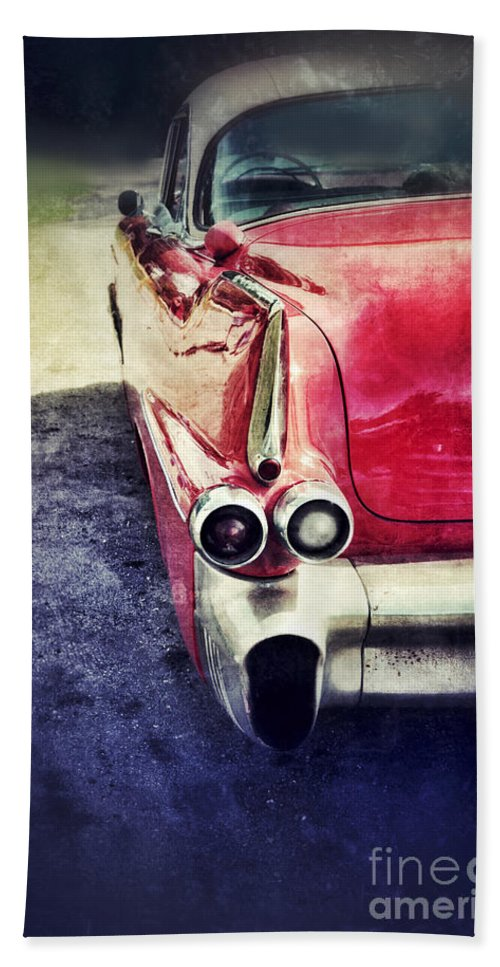 Car Beach Towel featuring the photograph Vintage Red Car by Jill Battaglia