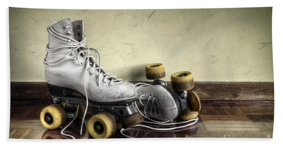 Active Beach Towel featuring the photograph Vintage Roller Skates by Carlos Caetano