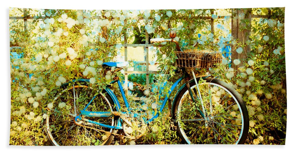 Bicycle Beach Towel featuring the photograph Vintaged by Athena Mckinzie