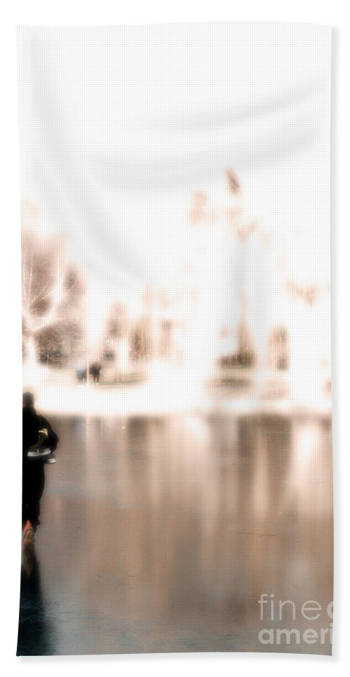 Walking Beach Towel featuring the photograph Walking On Water by Mike Nellums