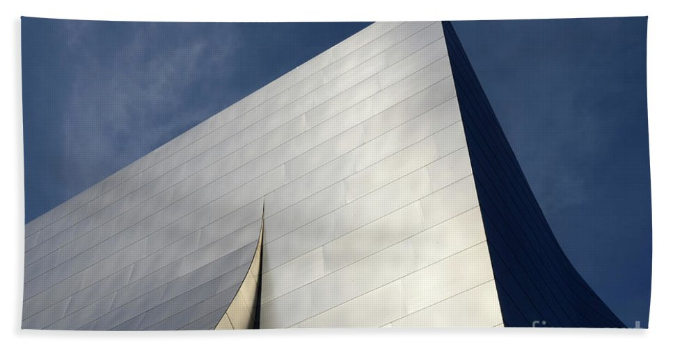 Disney Beach Towel featuring the photograph Walt Disney Concert Hall 5 by Bob Christopher