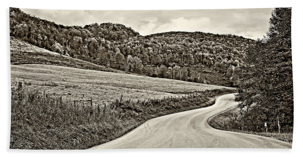 West Virginia Beach Towel featuring the photograph Wandering In West Virginia Sepia by Steve Harrington