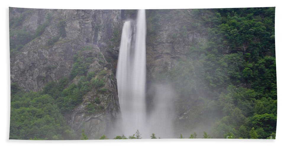 Water Fall Beach Towel featuring the photograph Water Fall by Mats Silvan