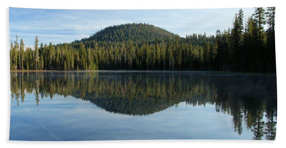 Summit Lake Beach Towel featuring the photograph Water Grass by Adam Jewell