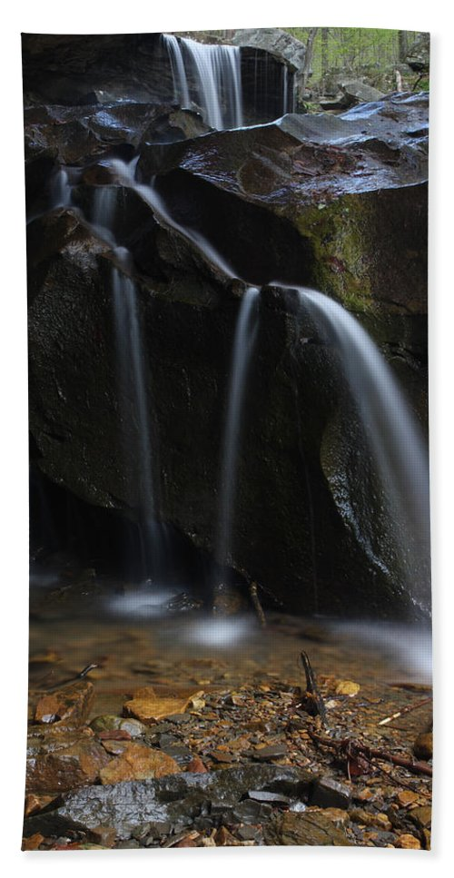 Water Beach Towel featuring the photograph Waterfall On Emory Gap Branch by Daniel Reed