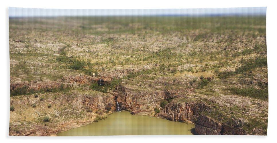Waterfalls Beach Towel featuring the photograph Waterfall Twins by Douglas Barnard