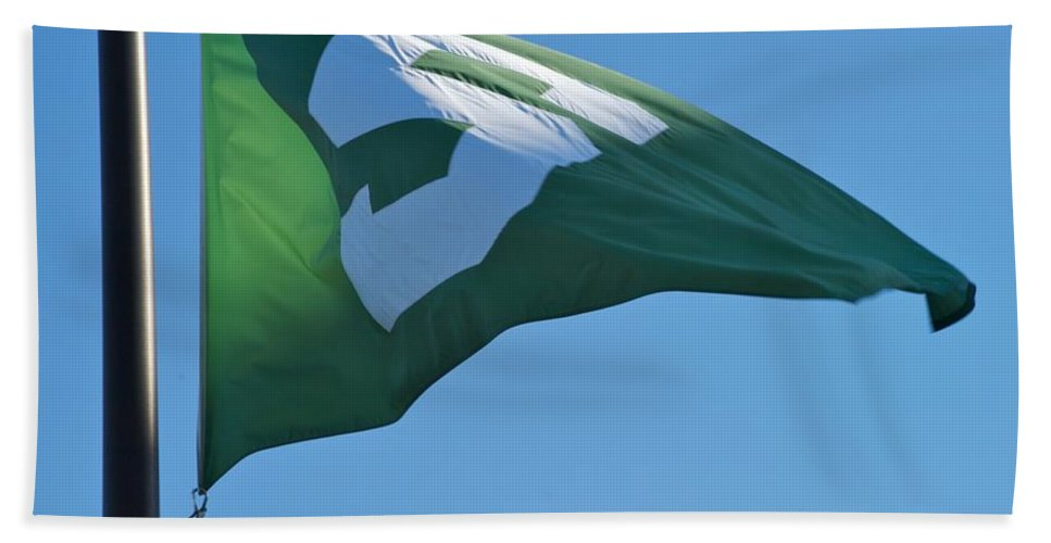 Flag Beach Towel featuring the photograph Wave by Joseph Yarbrough