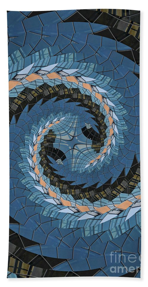 Digital Art Beach Towel featuring the photograph Wave Mosaic. by Clare Bambers