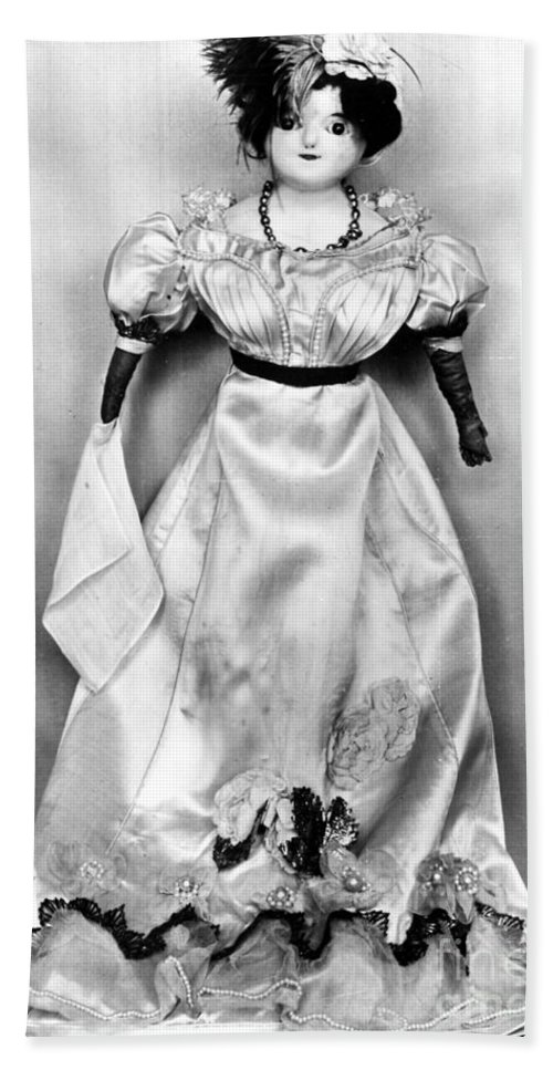1820 Beach Towel featuring the photograph Wax Doll, C1820 by Granger