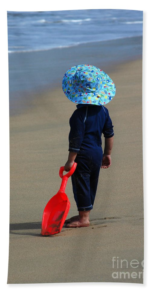 Water Beach Towel featuring the photograph Where Is A Good Place To Dig by Vivian Christopher