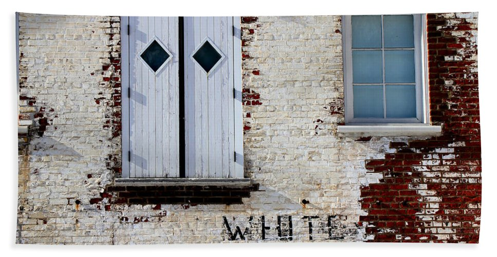 Brick Beach Towel featuring the photograph White Brick by Andrew Fare