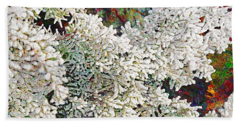 Snow Beach Towel featuring the digital art White Christmas by Barbara Berney