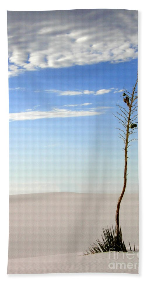 White Sands National Monument Beach Towel featuring the photograph White Sands National Monument 1 by Mike Nellums